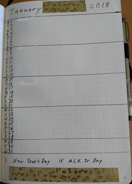 Jan monthly layout