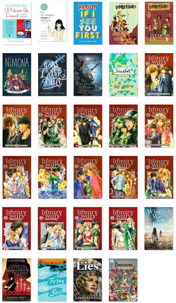 Covers of books I read in 2017
